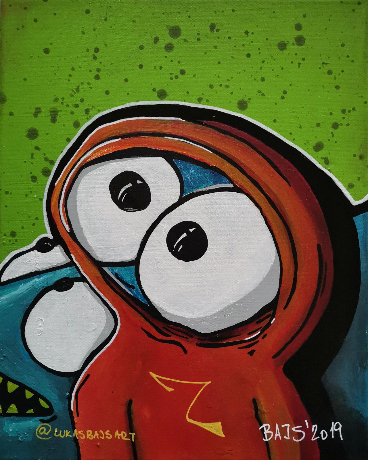 Ručně malovaný obraz na plátně LUKASBAJSART 2019