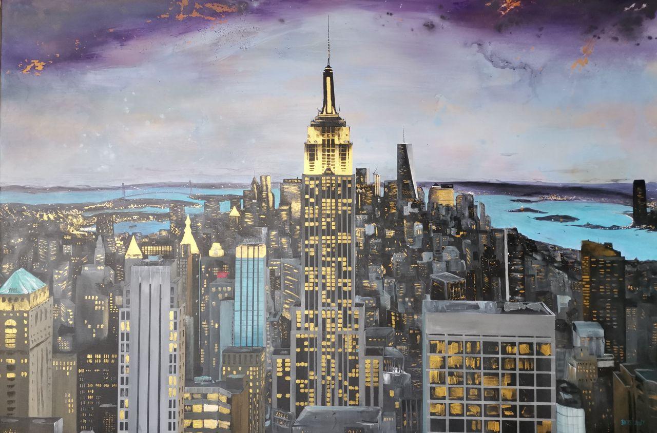 New York Goldcity - Ručně malovaný obraz