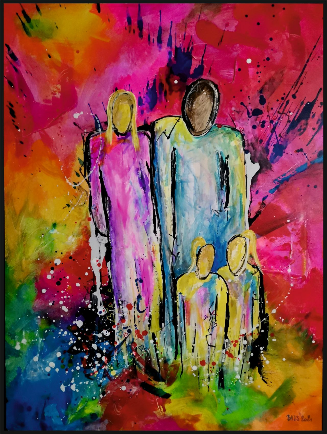 Síla rodiny - Ručně malovaný obraz